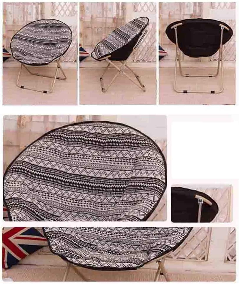 ZWJLIZI Folding chair household removable cleaning adult moon chair/sun chair/lazy chair/leisure chair round chair/armchair (Color : B) C