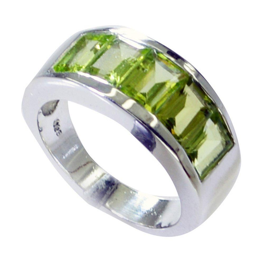 55Carat Natural Green Peridot Ring Band Men Bold August Birthstone Handmade Size 4,5,6,7,8,9,10,11,12