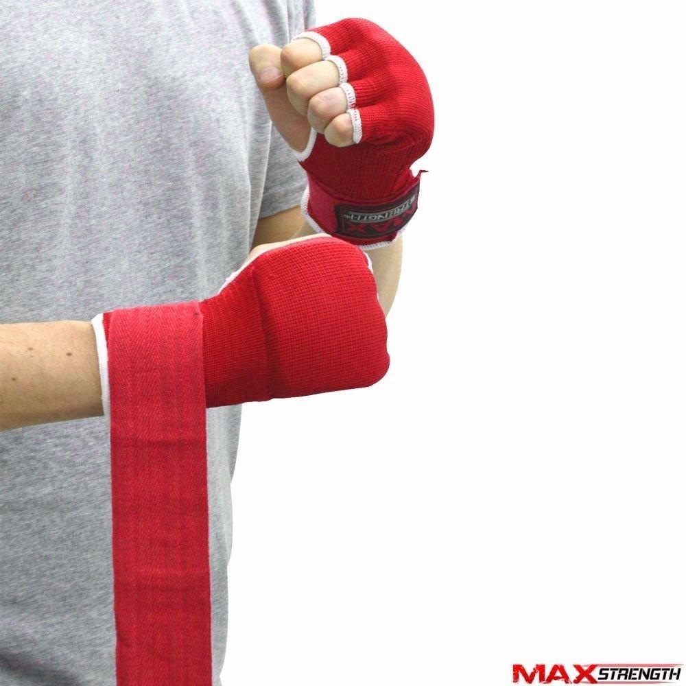 MMA Avec doigts ouverts karate XL Tailles S M L Pour boxe Gants int/érieurs rembourr/és Maxstrength Pour poignet