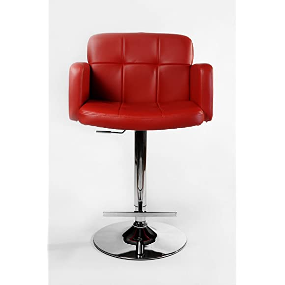 CLP Los Angeles red bar stool