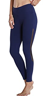 0d903474b80df KomPrexx Womens Running Leggings Mesh Yoga Pants Workout Tights Gym  Exercise Fitness…
