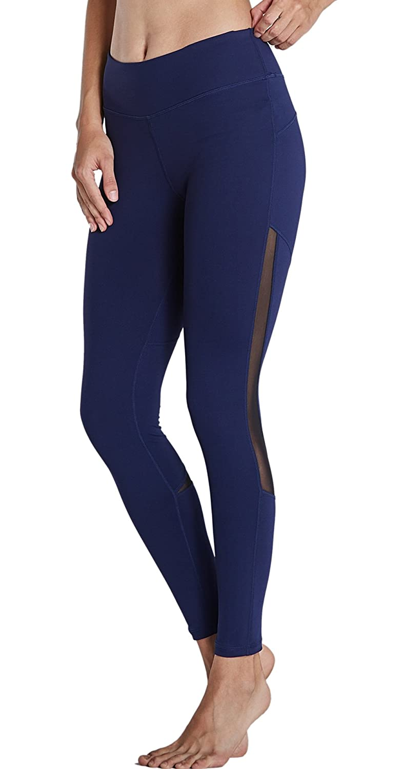 3db76eab194b7 DURABLE : Nylon wicks sweat away from the body and improves the softness of  womens yoga pants. ELASTIC : Spandex provides greater freedom ...