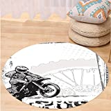 Best Tea Time Mouse Traps - VROSELV Custom carpetMotorcycle Decor Motocross Racer Image on Review