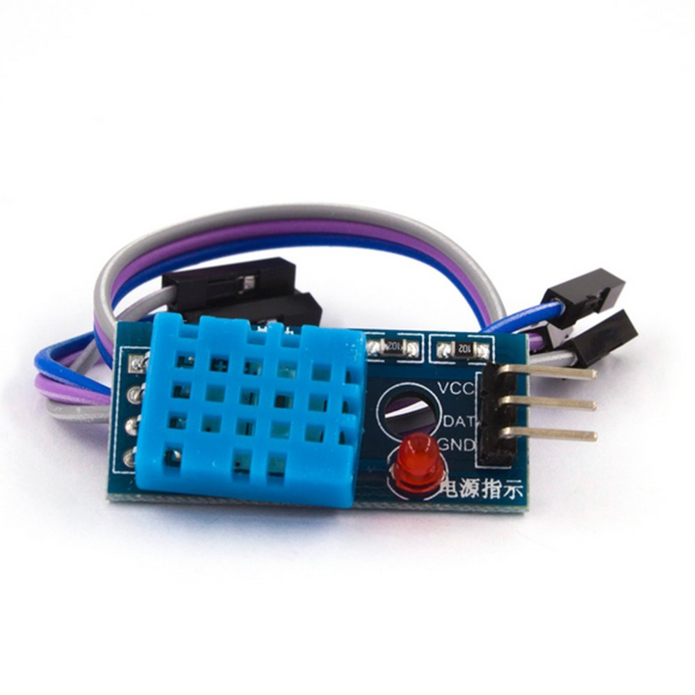 Ecloud Shop 10 PCS New Temperature and Relative Humidity Sensor DHT11 Module for Arduino
