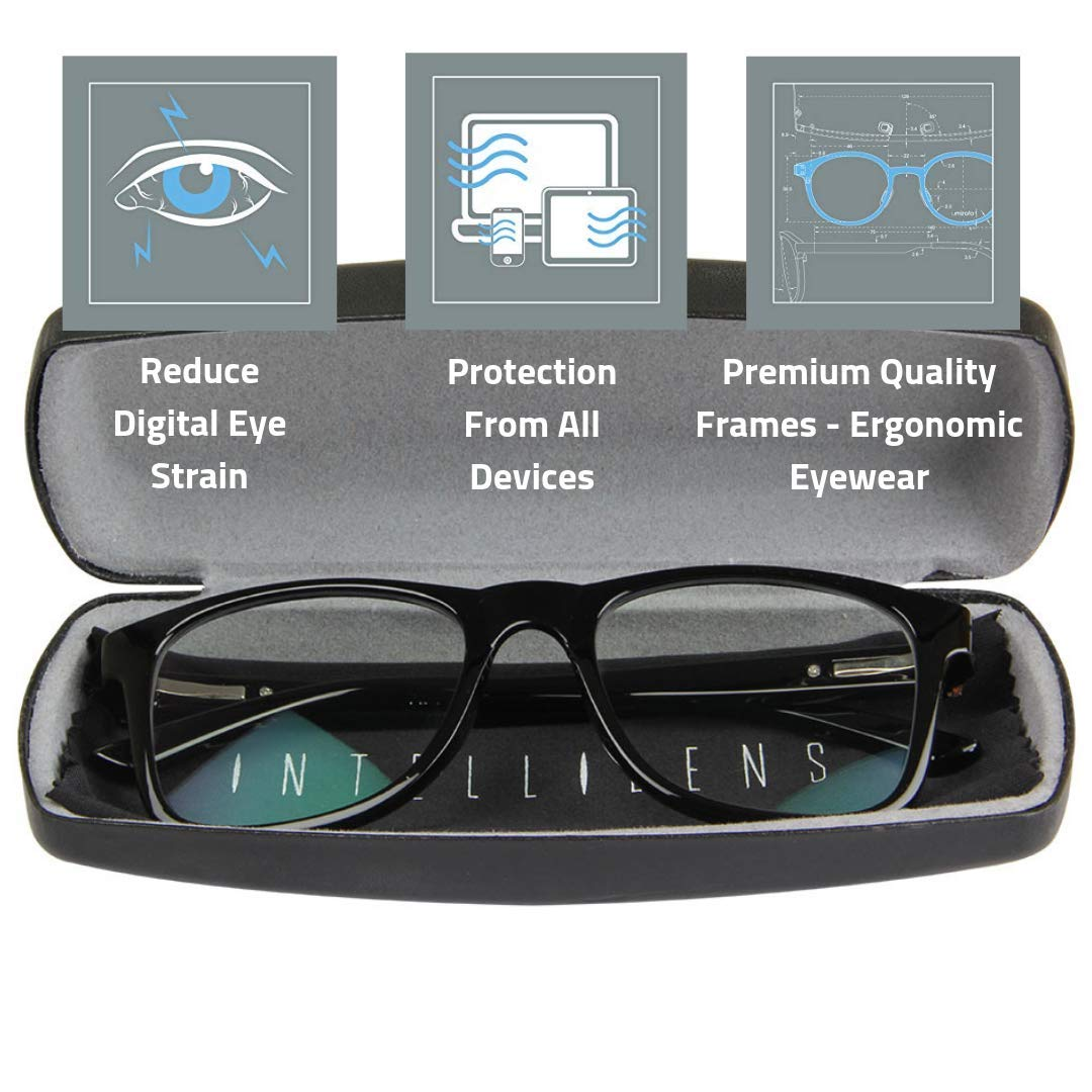 Premium Blue Cut Zero Power Wanderer Spectacles with Anti-glare for Eye Protection from UV by Computer Tablet Laptop Mobile