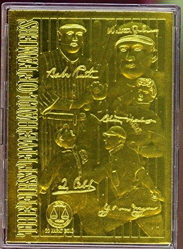 Gold Baseball Cards - AMERICAN LEGENDS BASEBALL HALL OF FAMERS 1999 CMG GOLD CARD IN ORIGINAL BOX