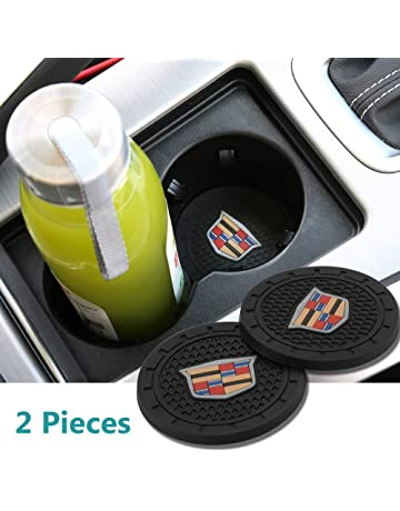 Yuanxi Electronics 2 Pcs 2.75 inch Car Interior Accessories Anti Slip Cup Mat for Cadillac Escalade
