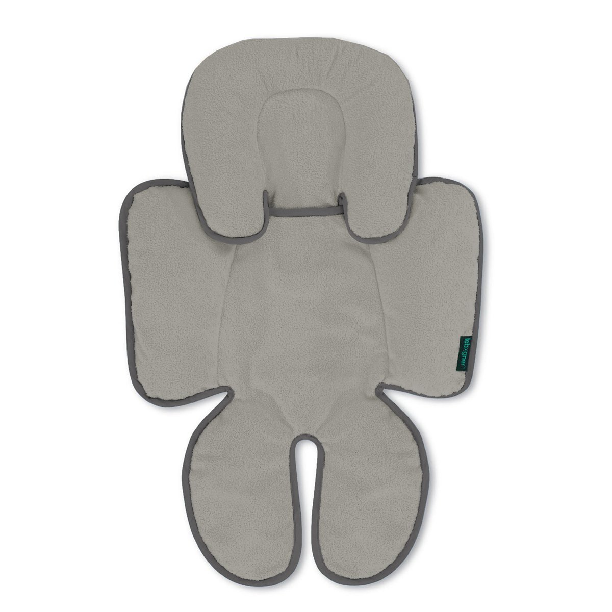 Head And Body Support Pillow By Lebogner - Infant To Toddler Head, Neck, And Body Cushion Perfect For Car Seats And Strollers, Detachable Head For Versatility As The Baby Grows, Grey