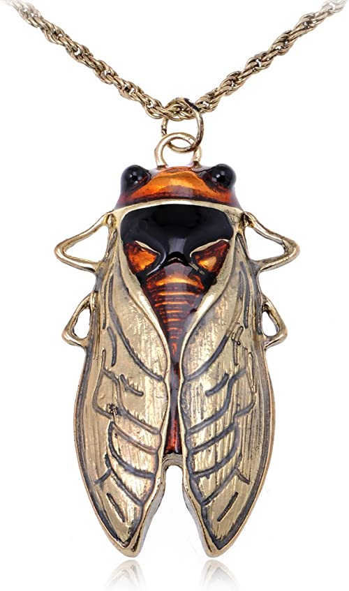 Insect Black Fly Quirky necklace