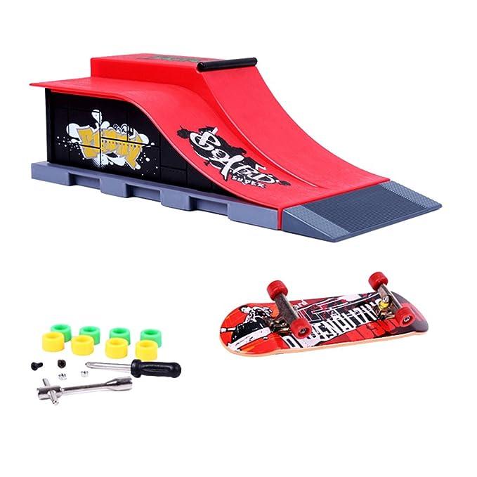 Los Mini Accesorios De Skate Y De Rampa Establecer E #