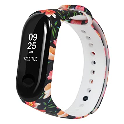 Amazon.com: OUFENLI Watch Band for Xiaomi Mi Band 3,Sport Silicone ...