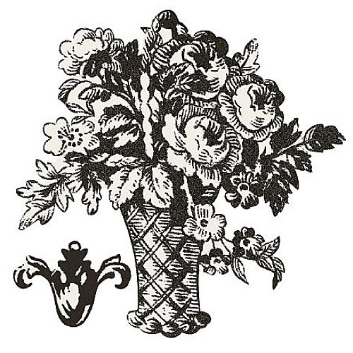 - Wallies 12522 Black and White Toile Baskets Wallpaper Cutout