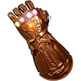 BestCoser Infinity Gauntlet Thanos Glove with 6 LED Gems for Adult, Battery Included
