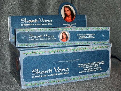 Shanti Vana Frankincense & Myrrh Incense - 12 Boxes of 15 Sticks Each (Incense Shanti)