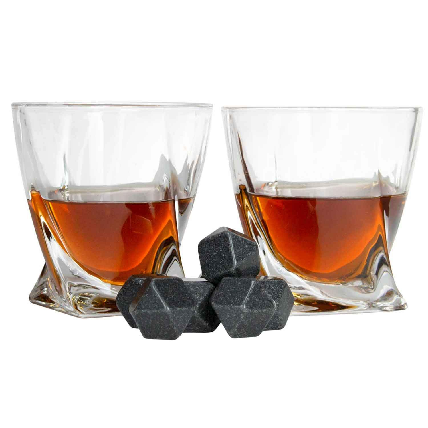 Atterstone Crate Whiskey Box Set with Premium Decanter and 2 Swirl Glasses, Includes 9 Chilling Stones and 2 Dark Stone Coasters, Encased in Polished Wood Box Great for Holiday and Wedding Gifts by Atterstone (Image #6)