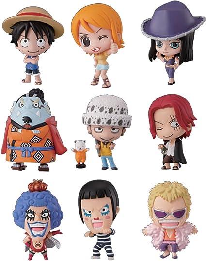 Bandai Tamashii Nations One Piece Deform Master Petite Toy Figures, Set of 10
