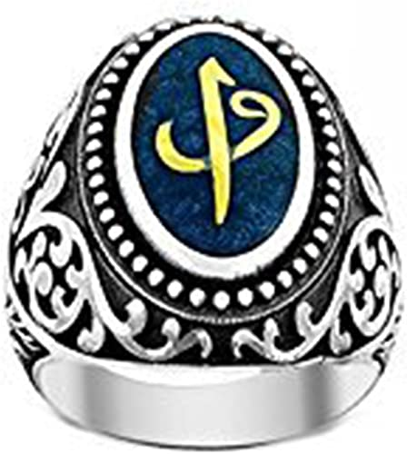 Falcon Jewelry Sterling Silver Mens Ring İslamic Ring