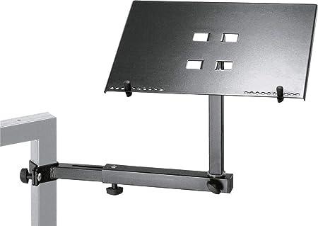 Soporte para computadora portátil Konig & Meyer para ciertos teclados Modelos 18950,18810, 18953
