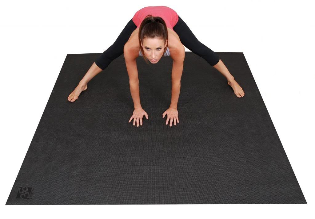 Large YOGA Mat. Extra Long, Extra Wide 72-Inch X 72-Inch (6 ft x6 ft) & 6mm Thick. The BIG Yoga Mat - 3X Larger Than A Standard Sized Yoga Mat. For Yoga & Stretching Without Shoes. Square36. by Square36
