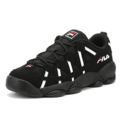 Amazon.com | Fila Spaghetti Low Black Sneakers | Fashion ...