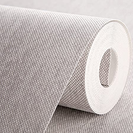 Loaest Modern Simple Plain Linen Wallpaper Color Tv
