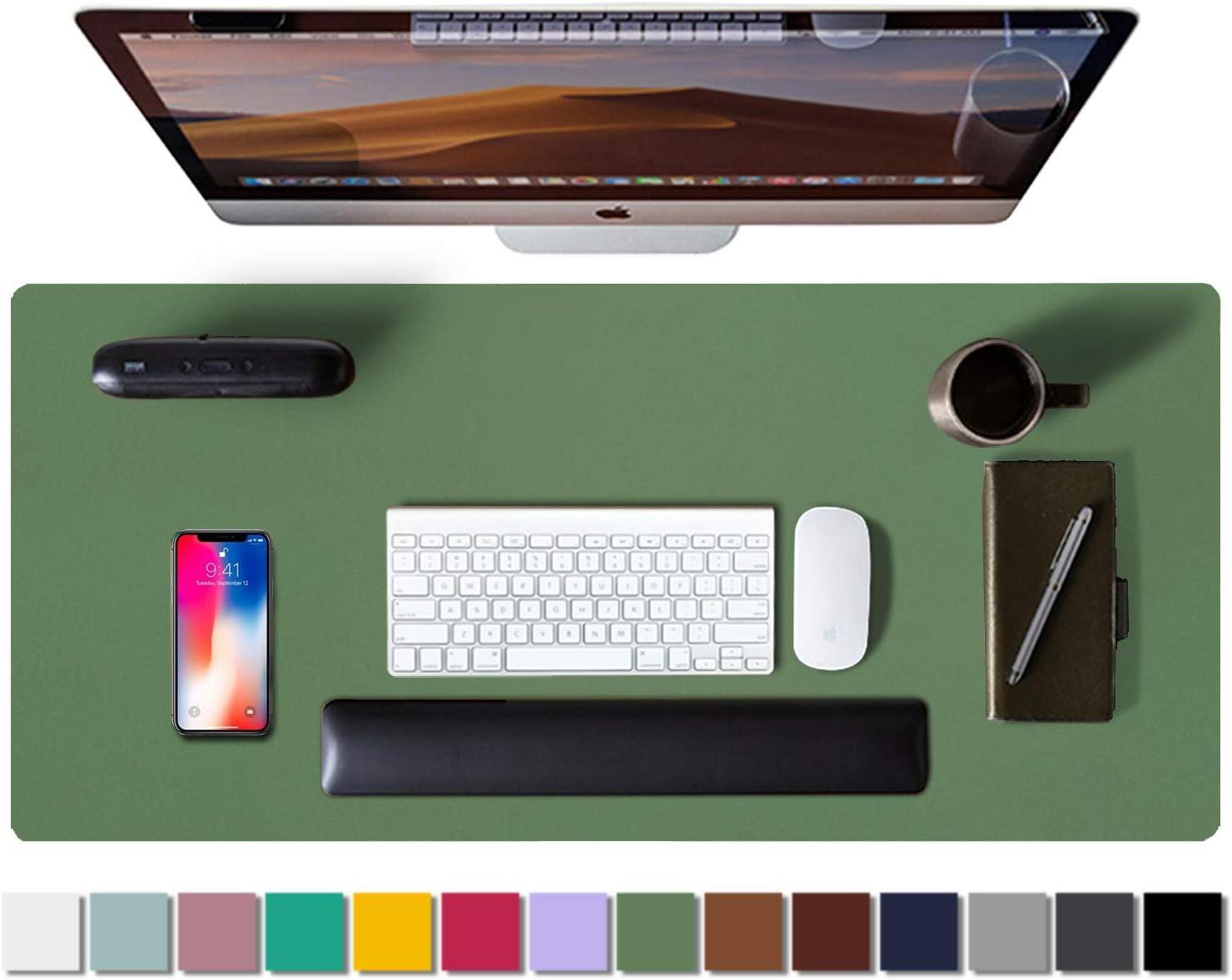 "Aothia 31.5"" x 15.7"" Leather Desk Pad Protector $11.89 Coupon"