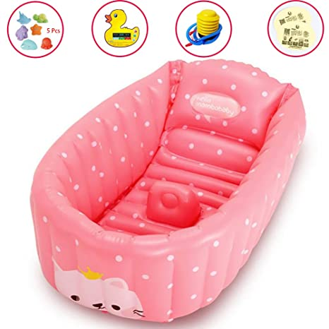 APig Bañera Espesada Hinchable para Bebés Piscina Flotador Inflable para Niños de 0-3 Años