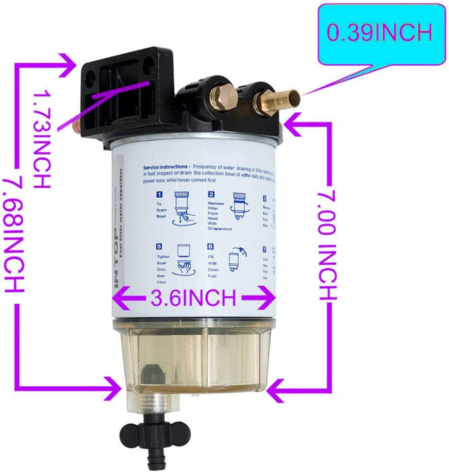 Fuel Filter 3/8 S3213 Marine Fuel Oil Water Separation Ship System ...