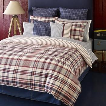 Amazon Com Tommy Hilfiger Vintage Plaid Comforter Set