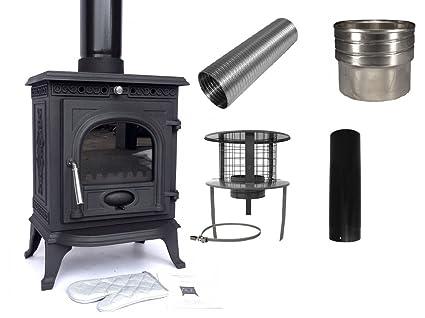 Complete Wood Burning Stove Installation Kit Including Flue Liner
