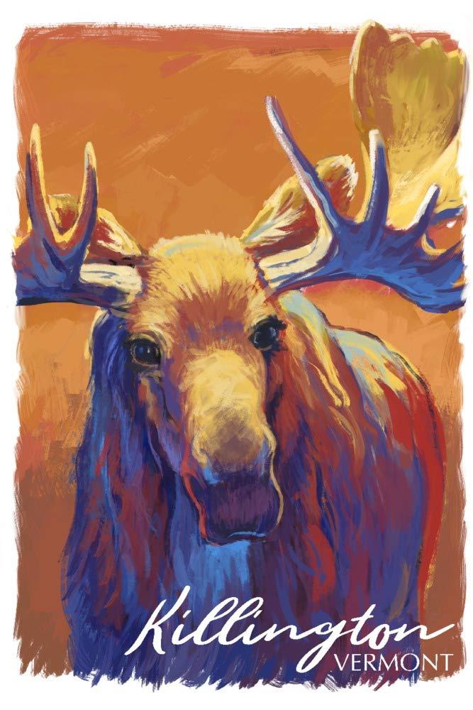 カウくる キルントン バーモント州 - ムース Print - ビビッド。 - Canvas Tote Tote Bag LANT-89939-TT B07JZJ45R3 36 x 54 Giclee Print 36 x 54 Giclee Print, 小田郡:0271b3ca --- cygne.mdxdemo.com