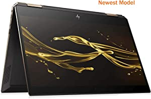 "HP Spectre Touch x360 13-ap000 Ash/Gold Convertible 8th Gen Quad Core Intel i7 up to 4.6GHz 16GB 512GB SSD 13.3"" FHD Gorilla Glass (Renewed)"