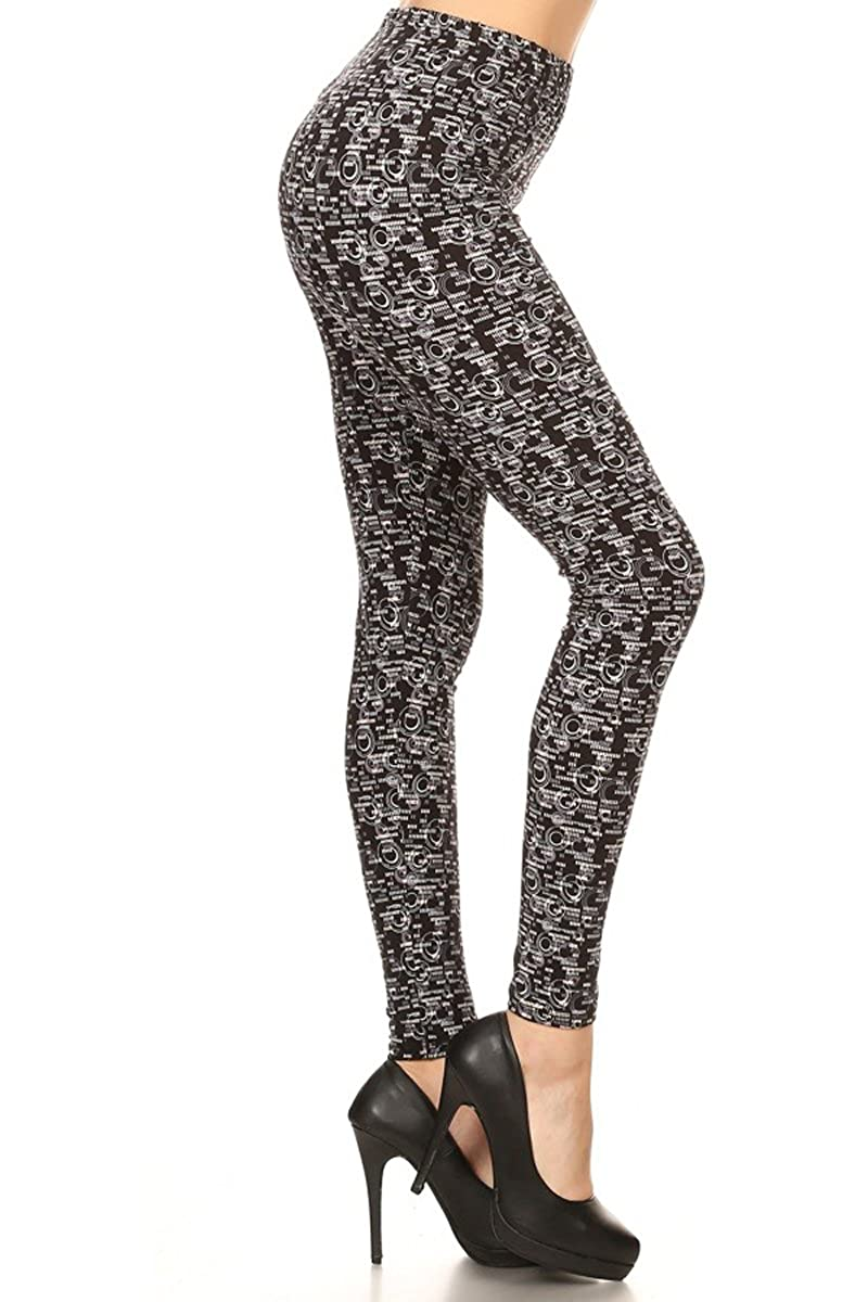 Leggings Depot Women's Ultra Soft Printed Fashion Leggings BAT18