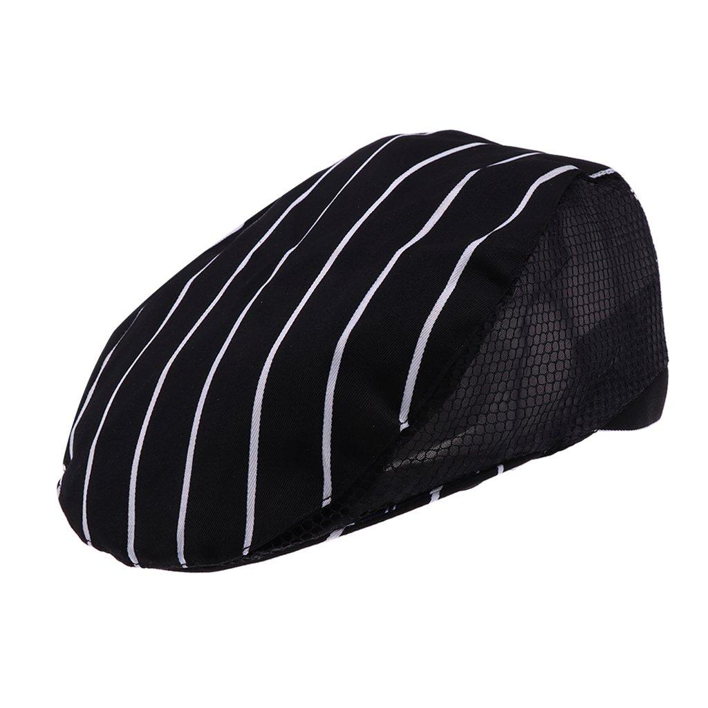 Sharplace Cappello da Cuoco Coppola Baker Cucinare Cappello Unisex in Cotone - nero