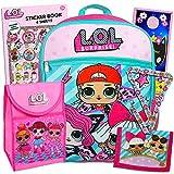 L.O.L Surprise! 6 Pc Backpack School Set (Deluxe Backpack, Lunch Bag, Wallet, Lanyard, Stickers, Door Hanger)