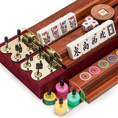 """American Mahjong (Mah Jongg Mahjongg), 166 Tiles Set with Racks and Accessories, """"The Classic"""""""