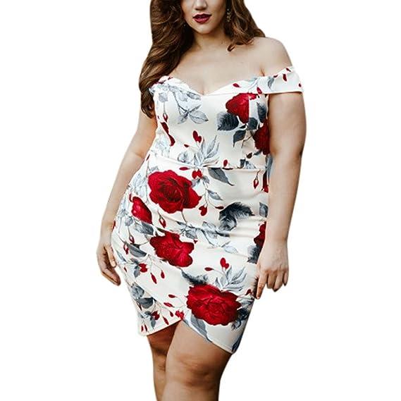 übergröße kleider damen Kolylong® Frauen Elegant Blumen Drucken ...