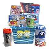 Fun Family Movie Night Star Wars Games & Snack Gourmet Movie Night Gift Baskets for Family