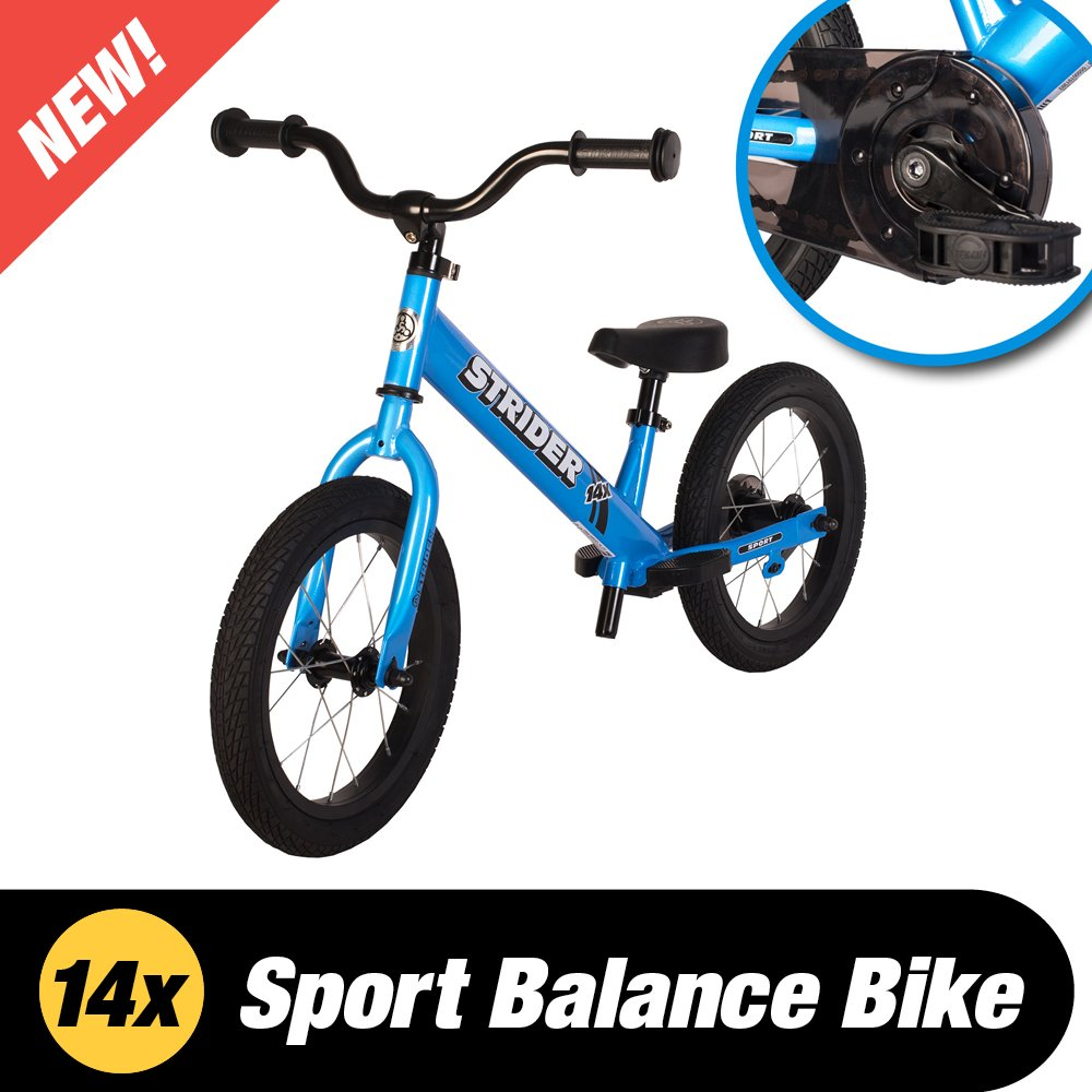 Strider - 14X 2-in-1 Balance to Pedal Bike, Awesome Blue