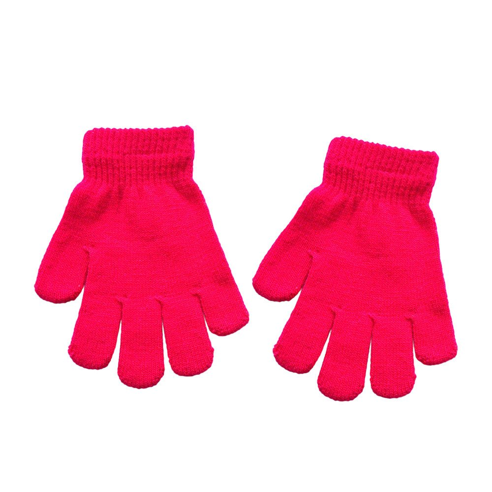 Elsta Baby M/ädchen Jungen Winter Warm Handschuhe Niedlich Solide Drucken Handschuhe Casual Handschuhe f/ür Kinder Handschuhe Soft Handschuhe Stretchy Gestrickte Bequeme Handschuhe