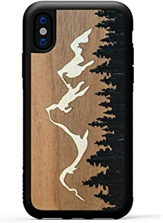 product image for Carved - iPhone Xs Case/iPhone X Case - Luxury Protective Traveler Case - Unique Real Wooden Phone Cover - Rubber Bumper - Grand Teton Inlay