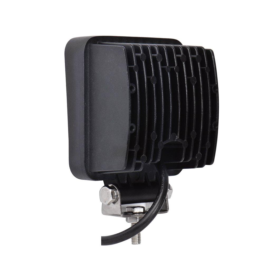 UTV Greenmigo 8 pi/èces 48W carr/é LED Offroad Flood SUV lumi/ère r/éflecteur Phare des travaux l/égers phares de Travail ATV Offroad Lampes suppl/émentaires Phare 12V 24V feu de recul