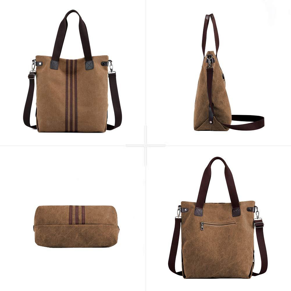 4124d8da272a1 Schuhe   Handtaschen EINWEG Nlyefa Canvas Handtasche Damen Umhägetasche  Große Schultertasche für Alltag