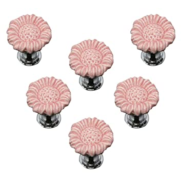 Amazon.com: SCTD - Tiradores de cajón con diseño de flores ...