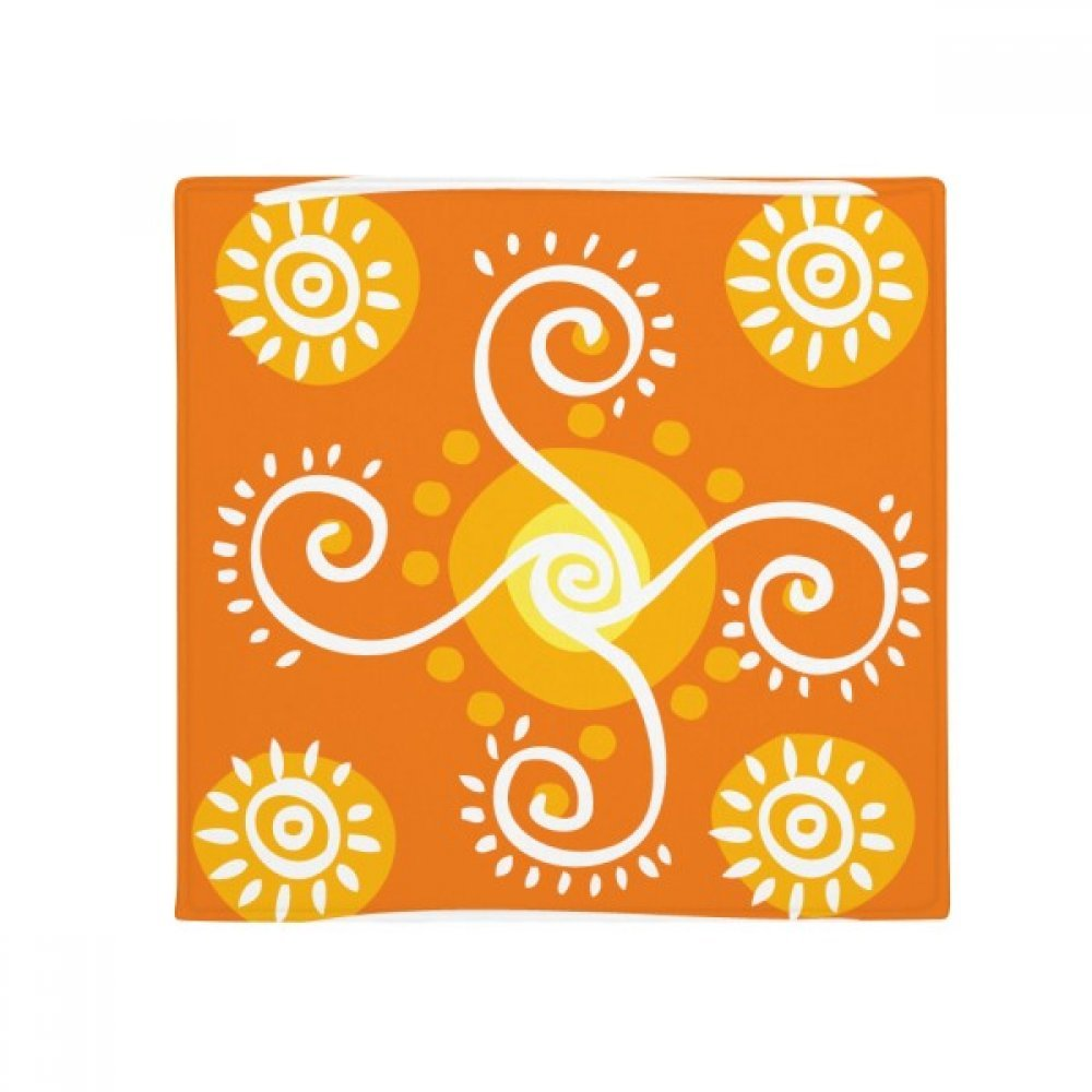 DIYthinker Volume orange Mexico Totems Ancient Civilization Anti-Slip Floor Pet Mat Square Home Kitchen Door 80Cm Gift