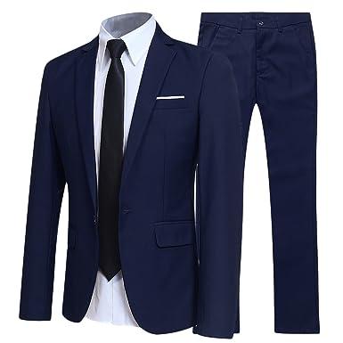 ba208edc92c7 Veste de Costume Blazer Homme + Pantalon