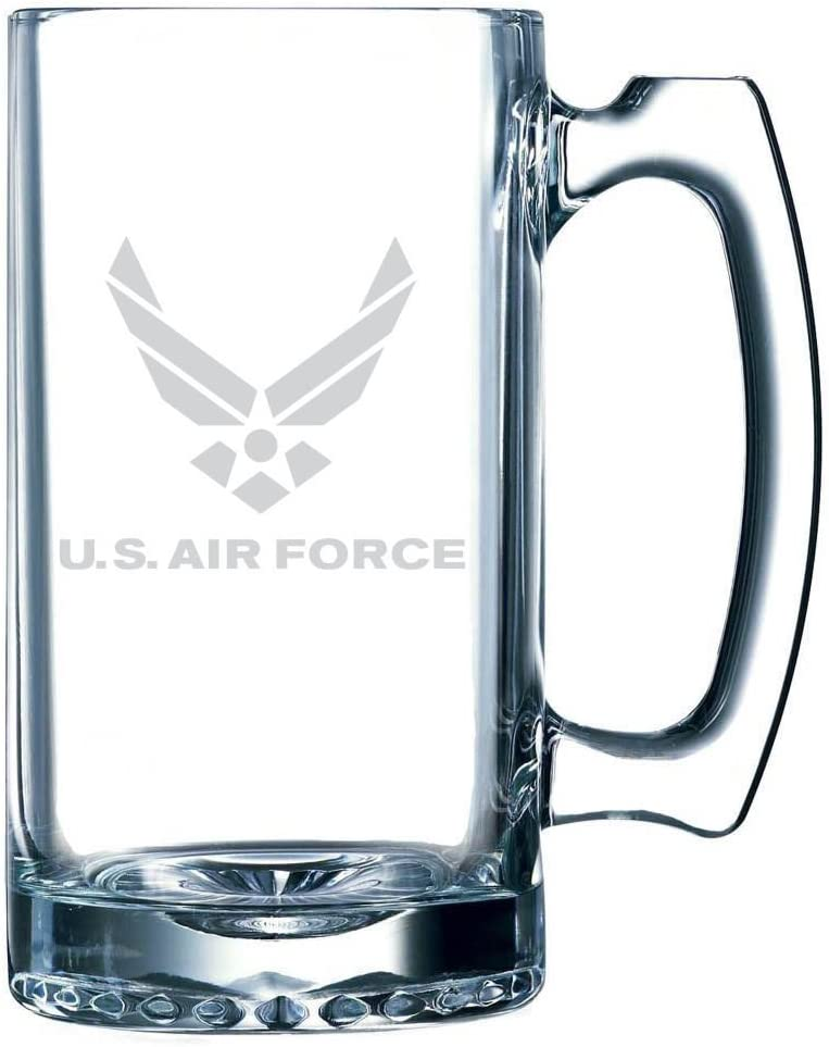 United States Air Force Etched 25oz Libbey Sports Beer Mug
