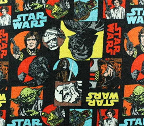 Fleece Fabric Printed Anti Pill Star Wars Characters Licensed ()