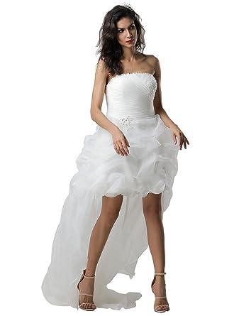 Jj Gogo Women S Short Princess Dress High Low Beach Bridal Wedding