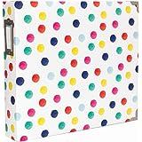 """American Crafts Becky Higgins Project Life 12"""" x 12"""" D-Ring Scrapbook Album - Polka Dots"""